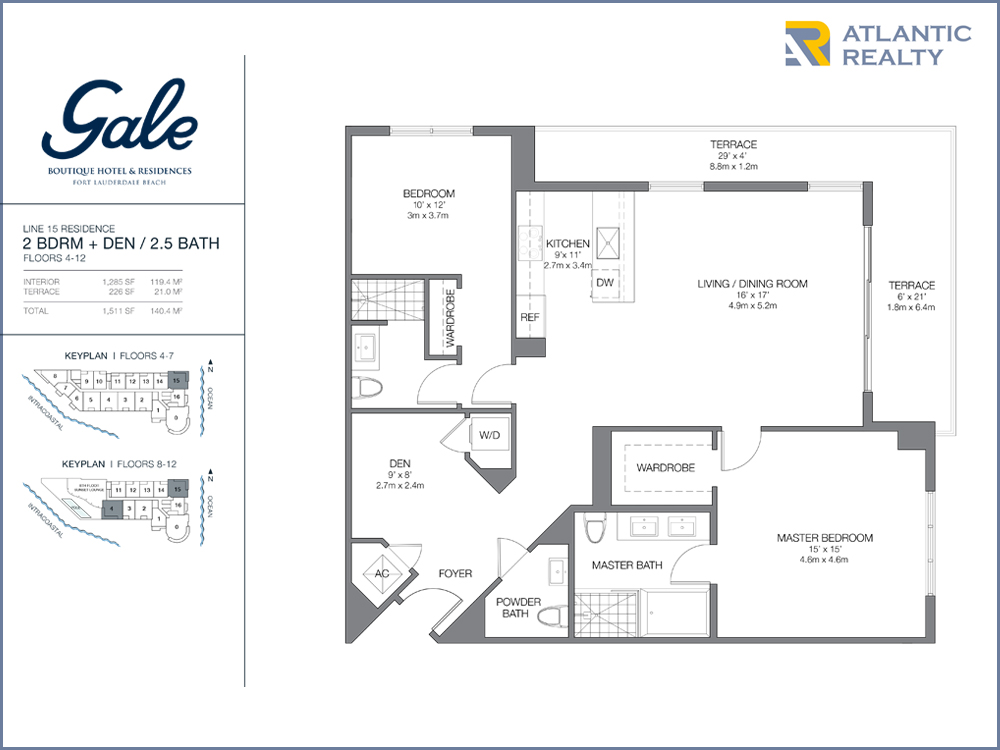 Gale boutique hotel residences new florida beach homes for Bay to beach builders floor plans